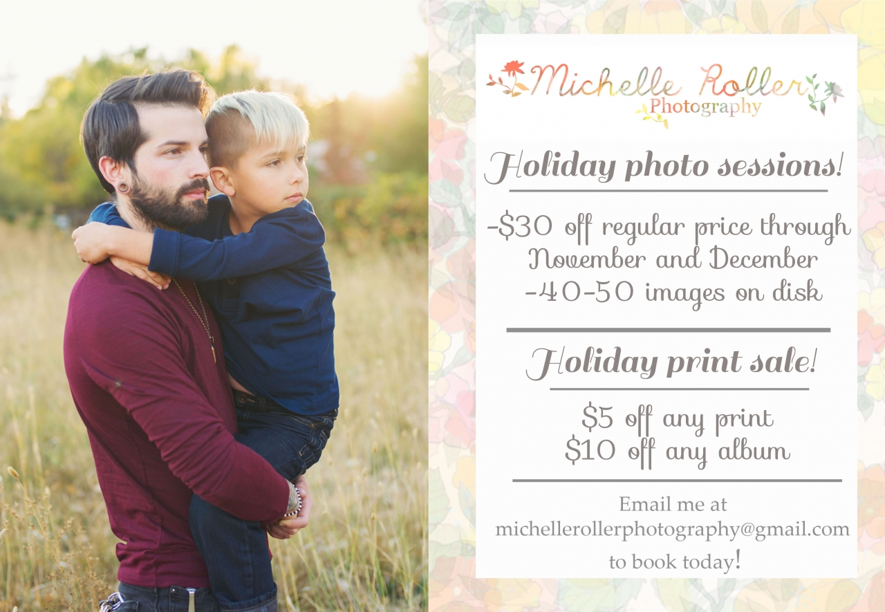 Michelle roller photography discounted holiday sessions