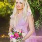 custom lavender wedding dress