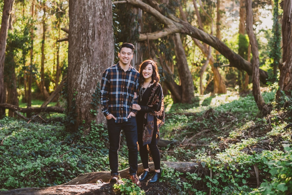 Vicky & Evan- Golden Gate Park engagement session