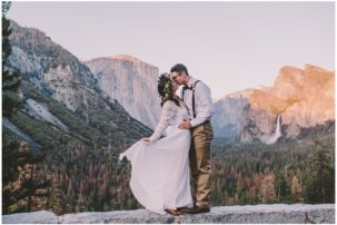 Yosemite National Park waterfall elopement
