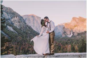 Yosemite National Park waterfall elopement