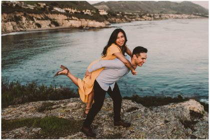 avila beach engagement session