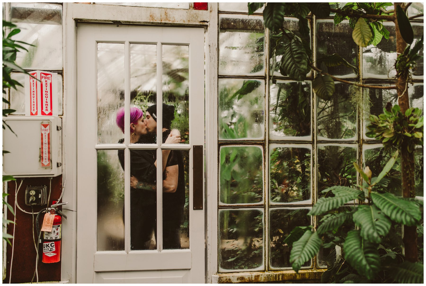 Conservatory of Flowers engagement session - Michelle Roller